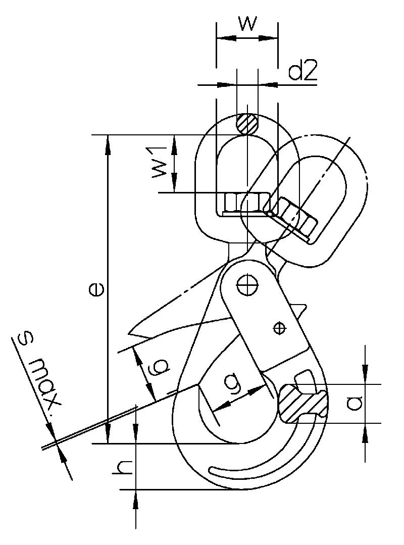 Sicherheitshaken-mit-Wirbel-WSB-S-zeichnung