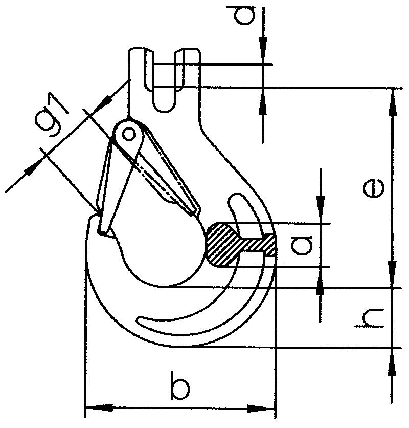 Lasthaken-mit-Gabel-und-geschmiedeter-Sicherungsfalle-HKS-SUN-zeichnung
