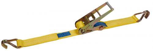 Zurrgurt 2-teilig, komplett 75 mm Bandbreite, gelb