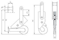 Automatischer-Sicherheitslasthaken-zeichnung