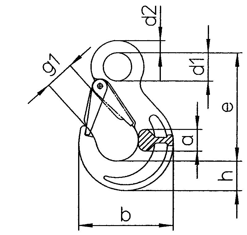 Lasthaken-mit-OEse-und-geschmiedeter-Sicherungsfalle-HS-S-zeichnung