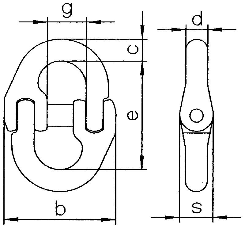 Verbindungsglied-V-S-zeichnung