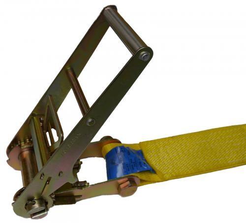 Zurrgurt 1-teilig, 75 mm Bandbreite, gelb