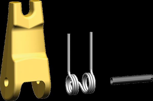 Geschmiedete Sicherungsfalle für vergrößerten Lasthaken mit Gabel und Sicherungsfalle VHKS/S FG-V