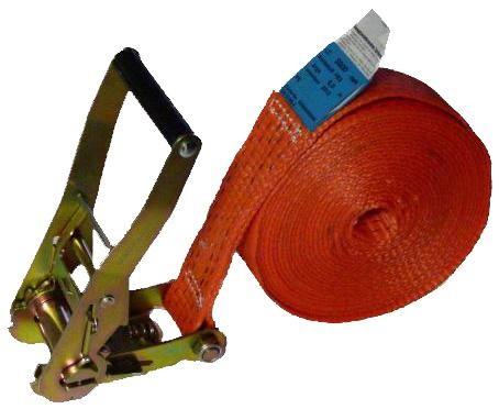 Zurrgurt 1-teilig mit Ratsche, 50 mm Bandbreite, orange