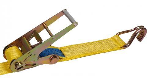 Zurrgurt Festende, 75 mm Bandbreite, gelb